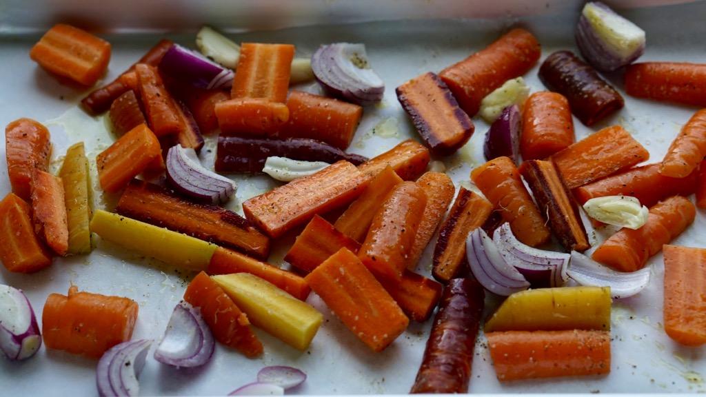 Bakade morötter